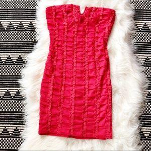 NikiBiki Pink Beaded Strapless Body-con dress M